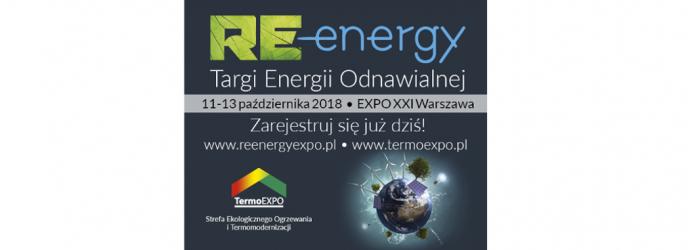 Zapraszamy na Międzynarodowe Targi Energii Odnawialnej RE-Energy